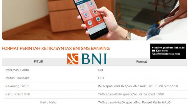 Format SMS Banking BNI